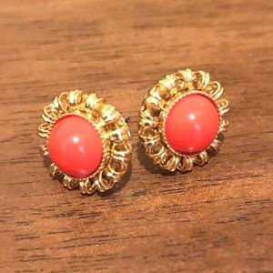 Stella and Dot orange studs